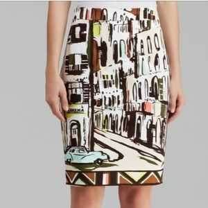 Kate Spade NY landscape Havana pencil skirt